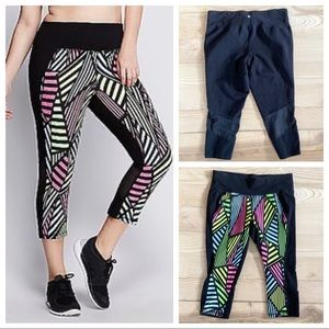 LIVI ACTIVE NWOT MESH PANEL CROP WORKOUT LEGGINGS